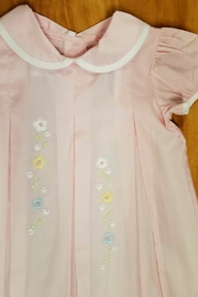 Lullaby Set Girls Pink-Pleated-Floral-Embroidery Dress - Front full body