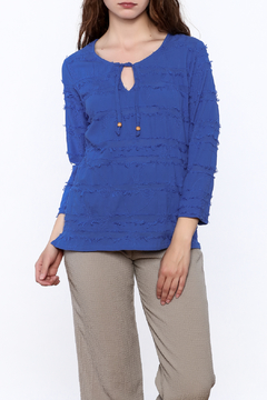 Shoptiques Product: Fringe Blue Top