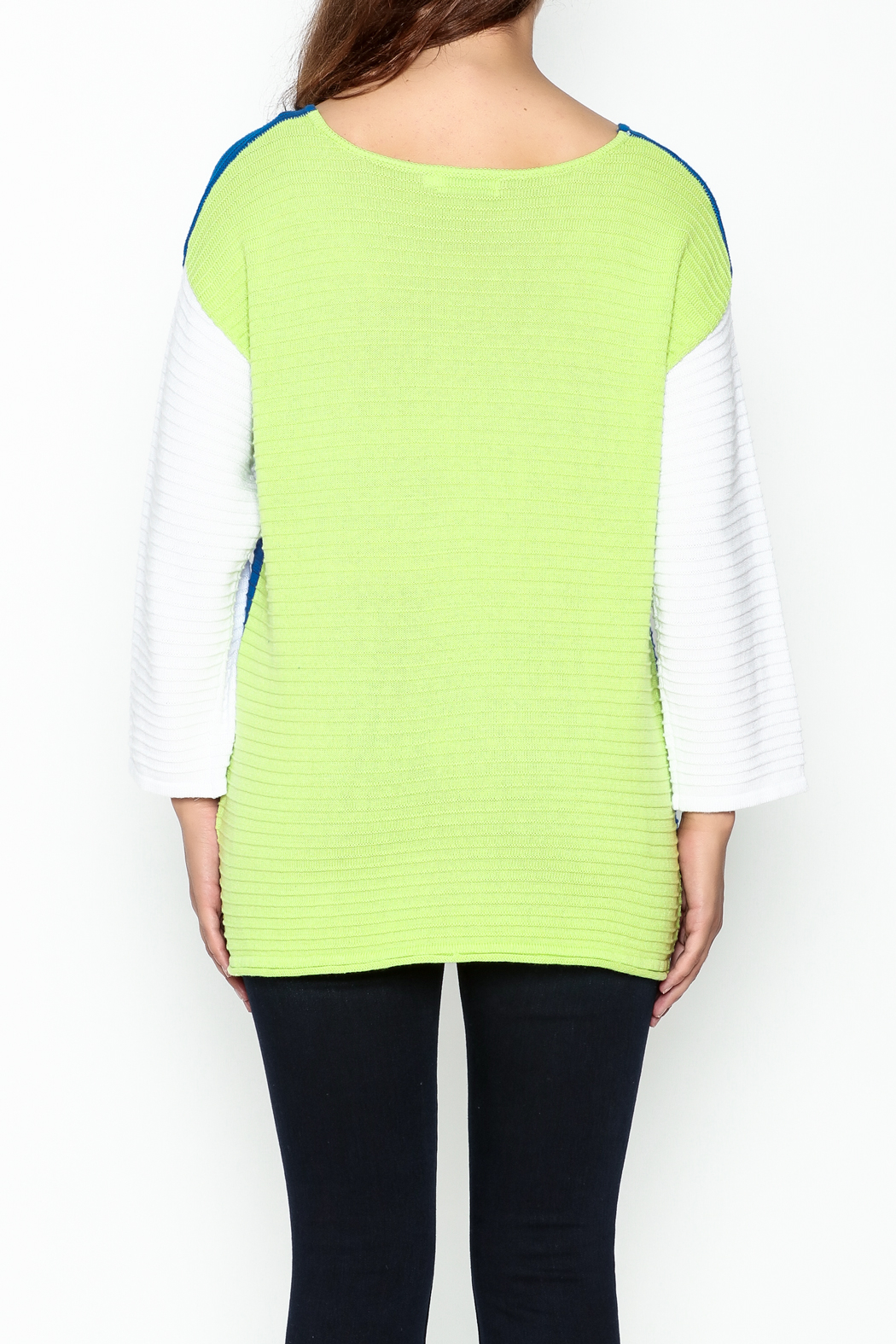 Lulu B Color Block Sweater - Back Cropped Image