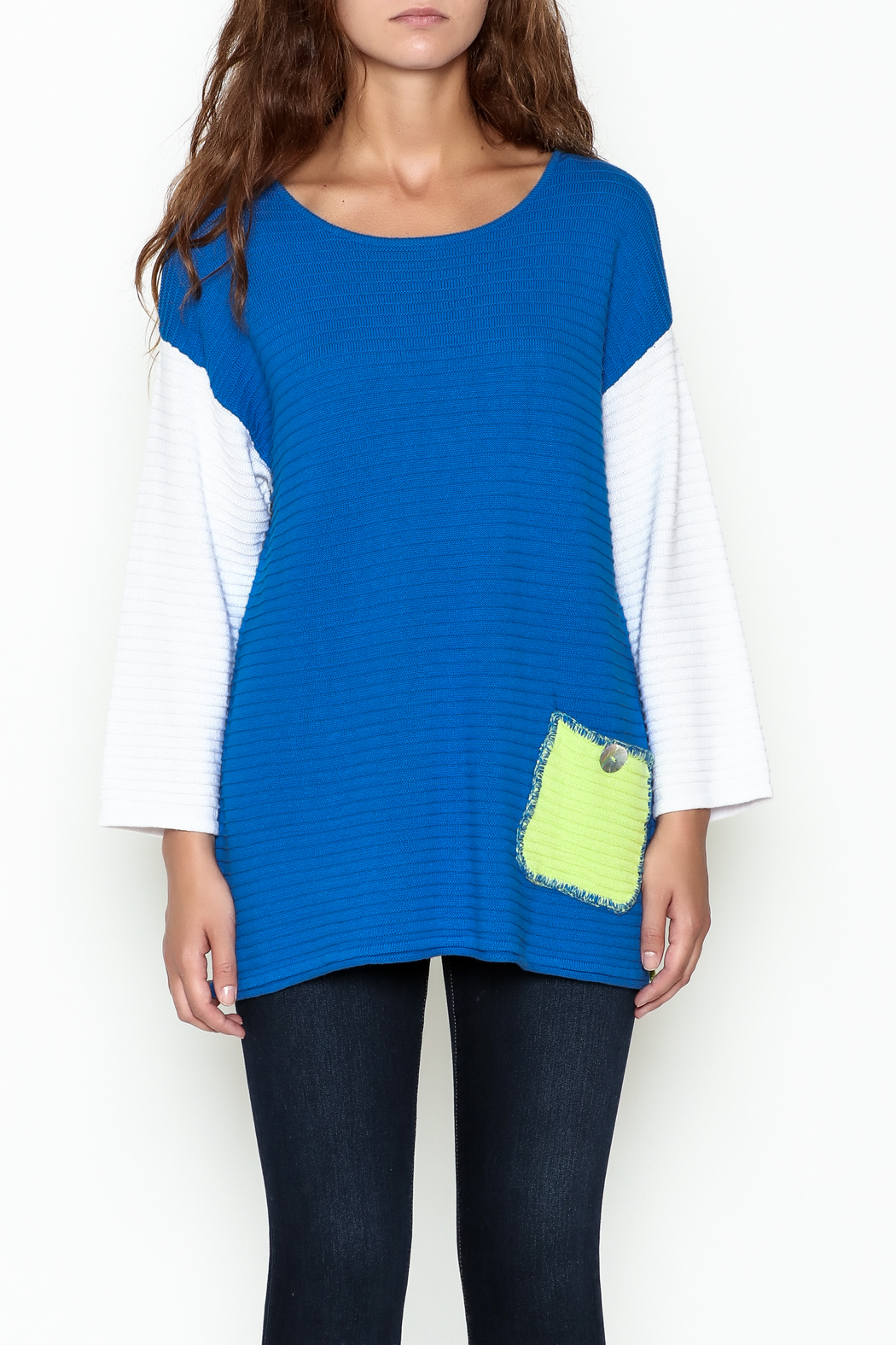 Lulu B Color Block Sweater - Front Full Image