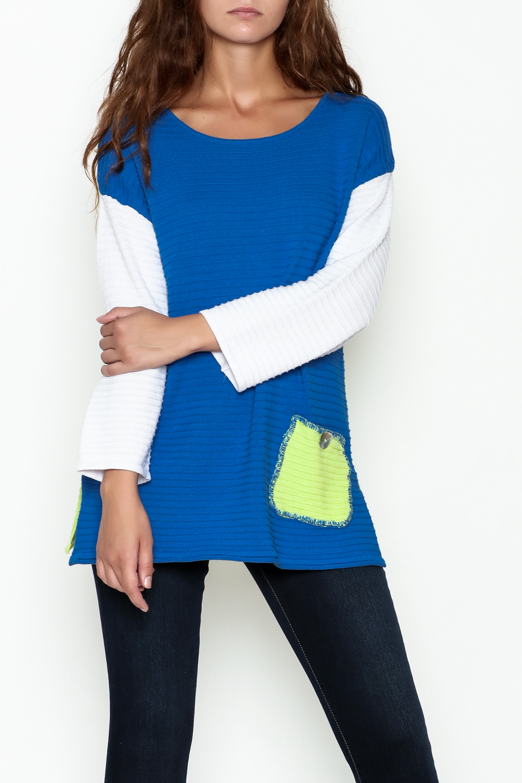 Lulu B Color Block Sweater - Front Cropped Image