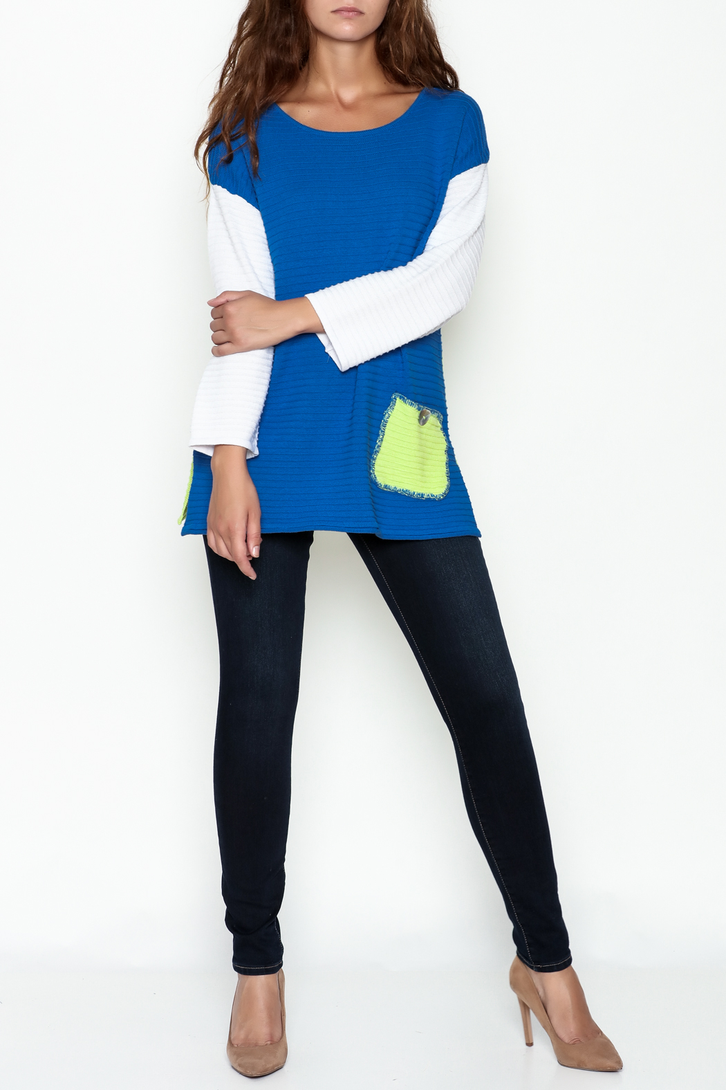 Lulu B Color Block Sweater - Side Cropped Image