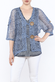 Lulu B Mesh Cardigan - Product Mini Image