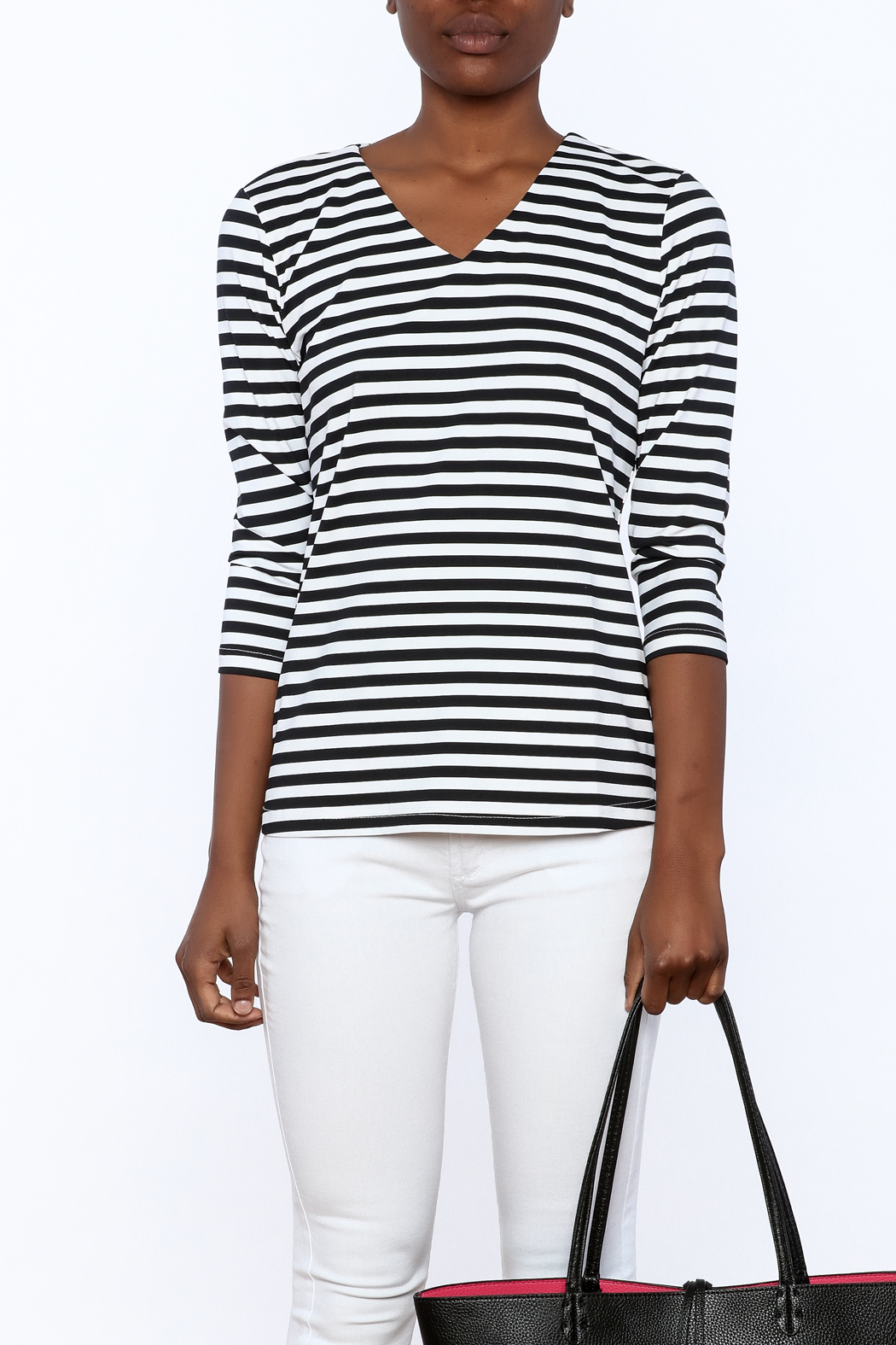 Lulu B Stripe Basic Top - Side Cropped Image