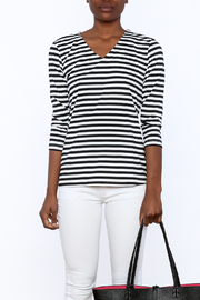 Lulu B Stripe Basic Top - Side cropped