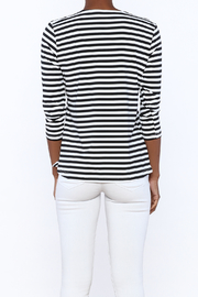 Lulu B Stripe Basic Top - Back cropped