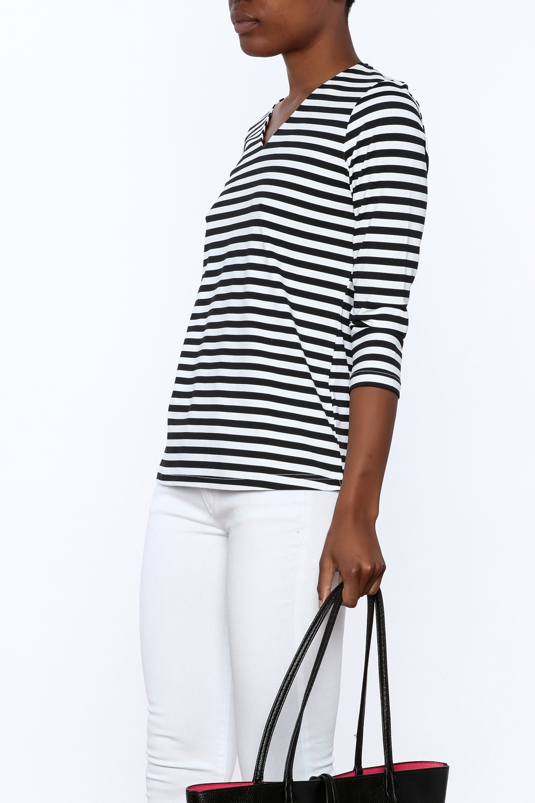 Lulu B Stripe Basic Top - Front Cropped Image