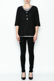 Lulu B Raglan Black Cardigan - Side cropped