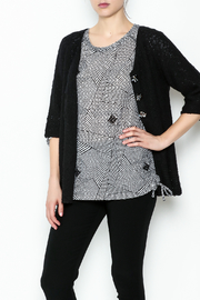 Lulu B Raglan Black Cardigan - Product Mini Image