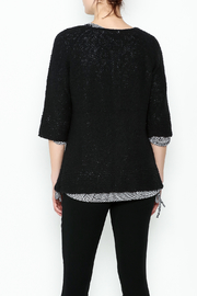 Lulu B Raglan Black Cardigan - Back cropped