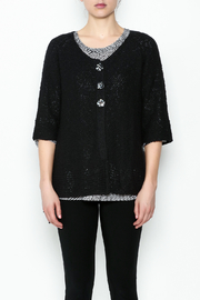 Lulu B Raglan Black Cardigan - Front full body