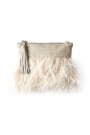 Vash  LULU BONE FEATHER CLUTCH - Product Mini Image
