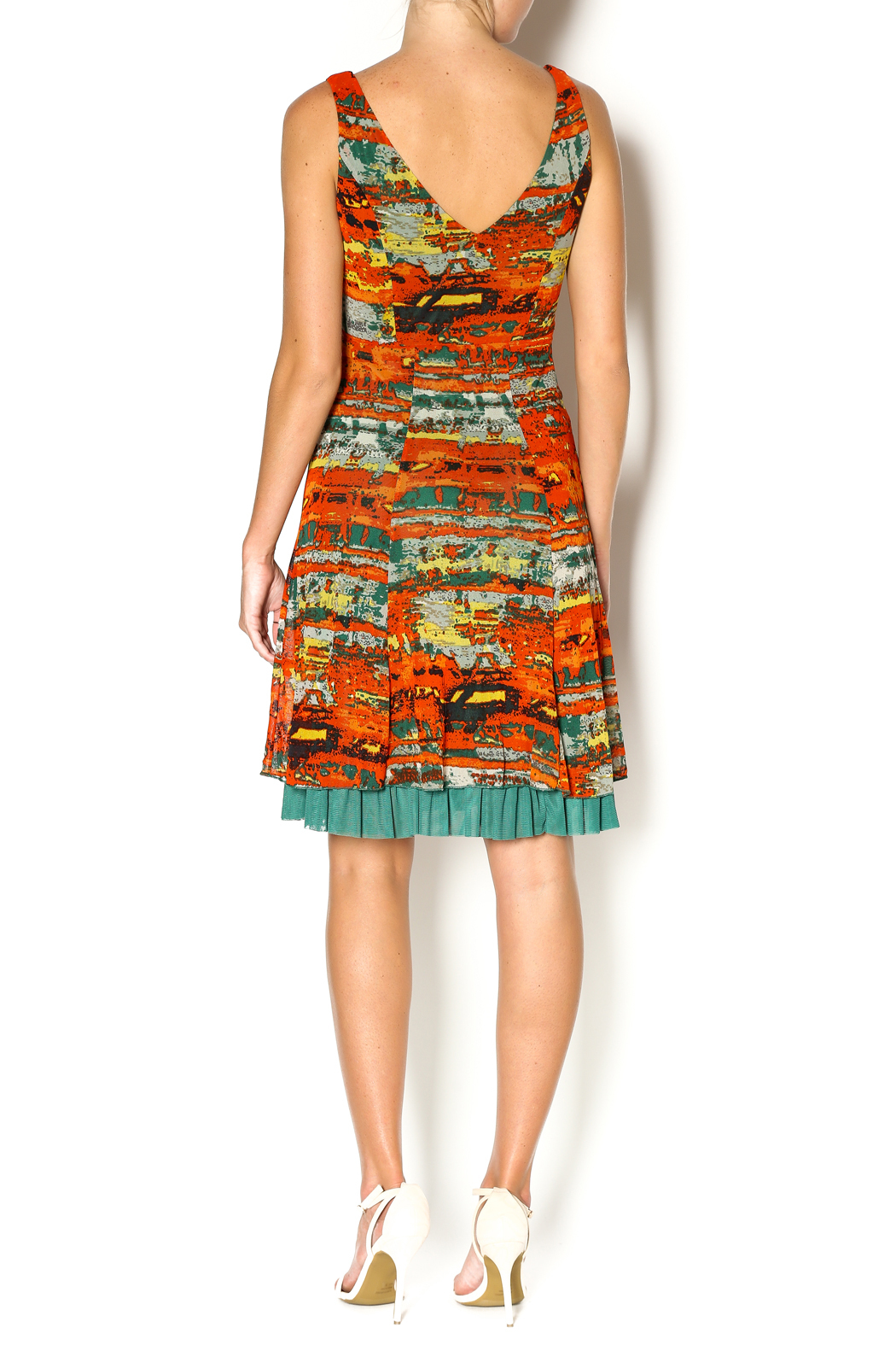 Lulu-H Layered Print Dress - Side Cropped Image