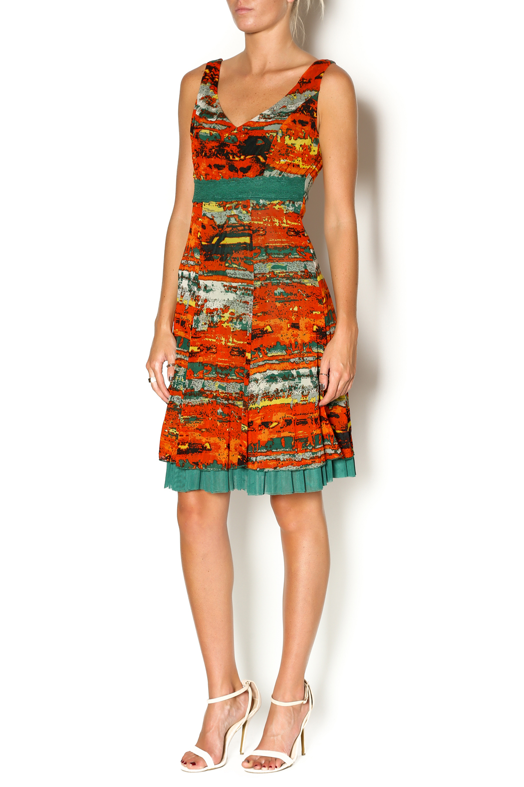 Lulu-H Layered Print Dress - Front Full Image