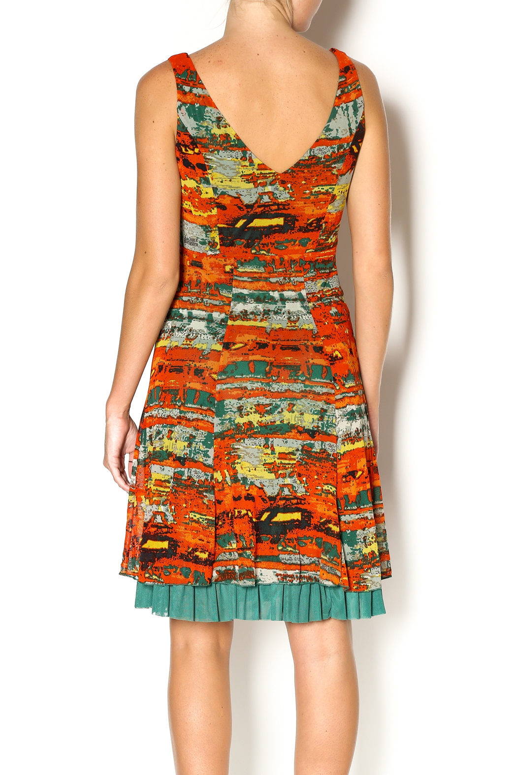 Lulu-H Layered Print Dress - Back Cropped Image