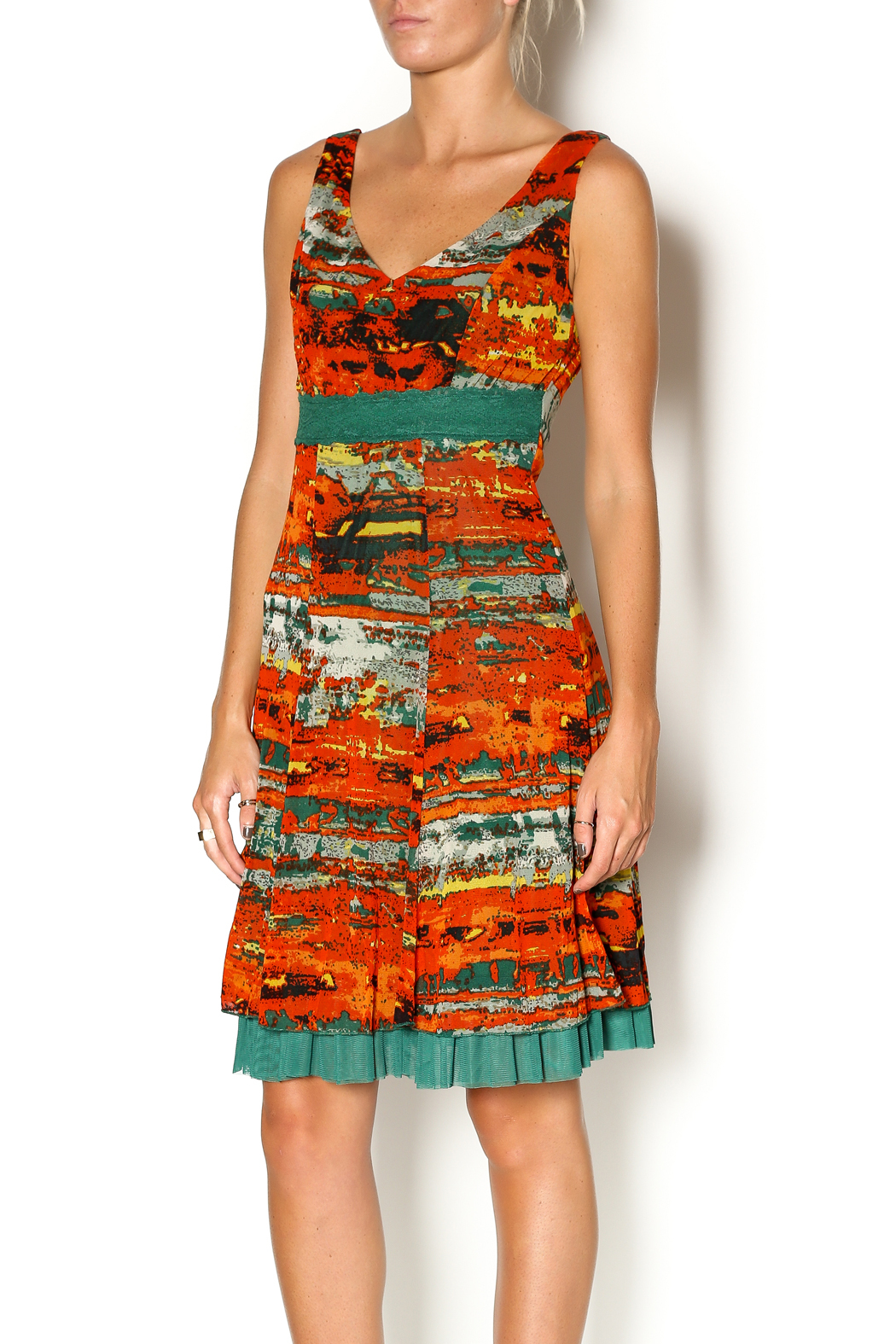 Lulu-H Layered Print Dress - Front Cropped Image
