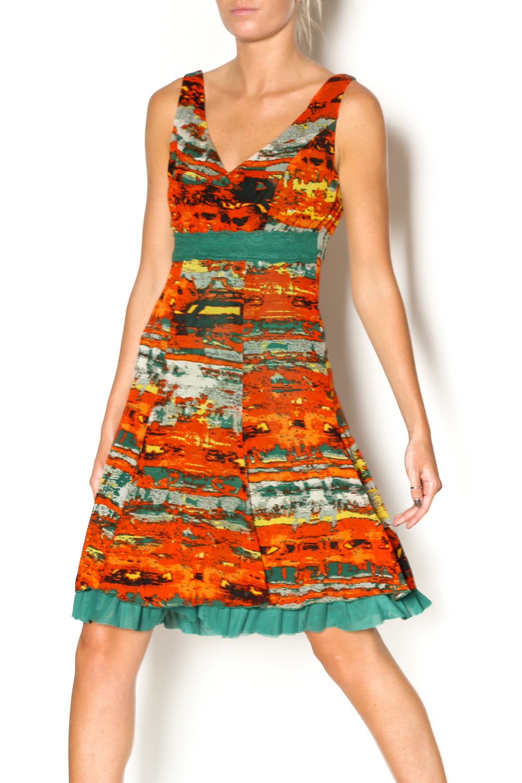 Lulu-H Layered Print Dress - Main Image