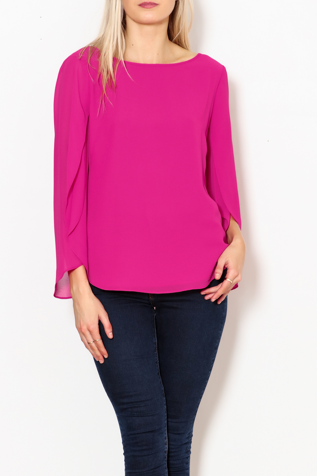Single Lulu Open Sleeve Blouse - Front Cropped Image