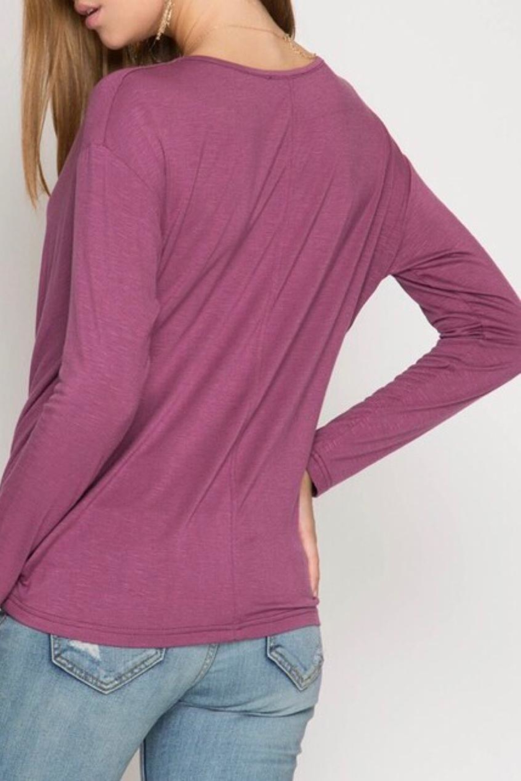 LuLu's Boutique Cowl Neck Top - Side Cropped Image