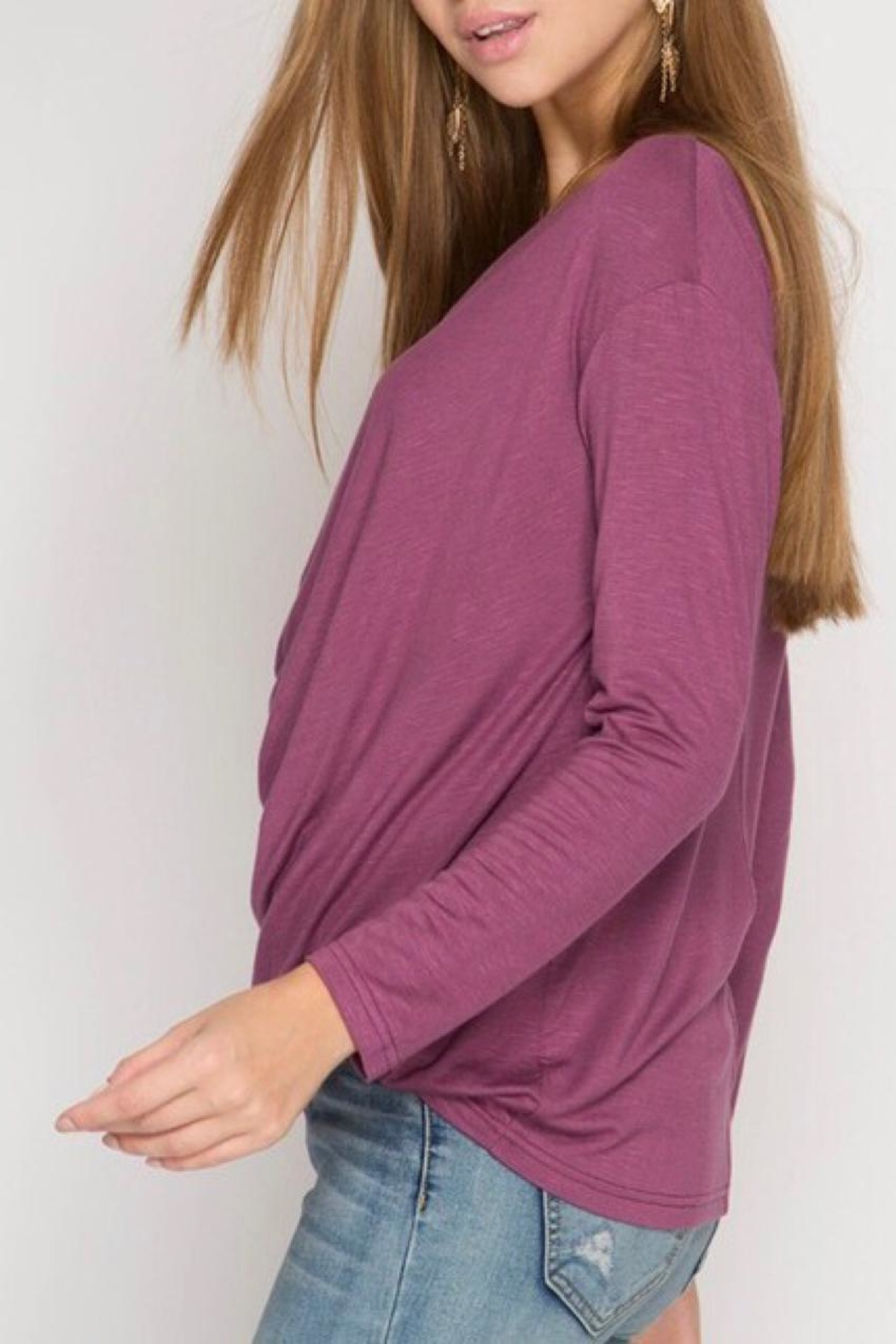 LuLu's Boutique Cowl Neck Top - Front Full Image