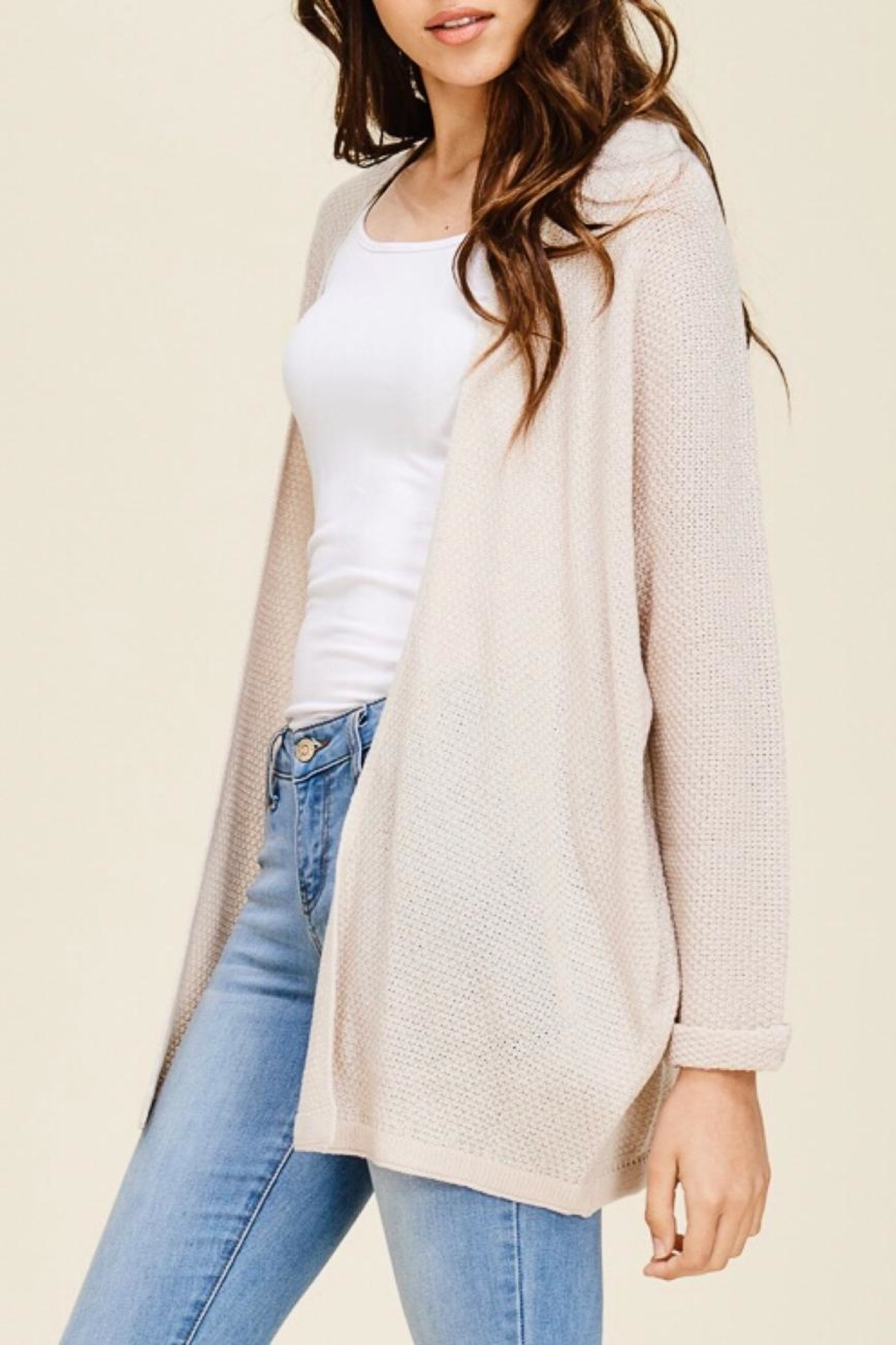 LuLu's Boutique Dolman Sleeve Cardigan - Front Full Image