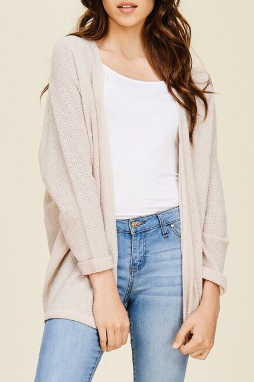 LuLu's Boutique Dolman Sleeve Cardigan - Front Cropped Image