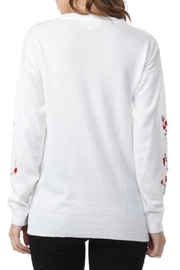 COVERSTITCHED Embroidered Sleeve Sweater - Side cropped
