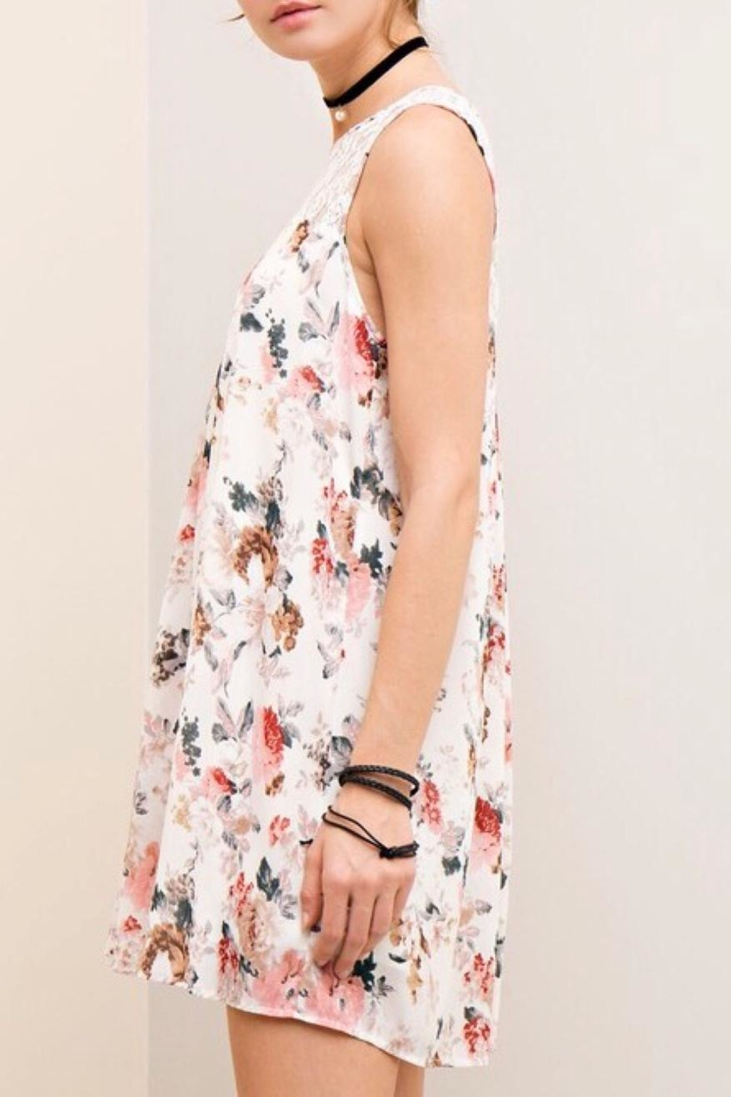 LuLu's Boutique Chiffon Floral Dress - Front Full Image