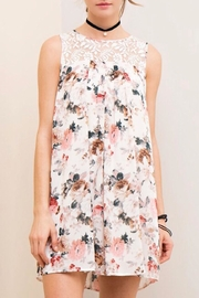 LuLu's Boutique Chiffon Floral Dress - Product Mini Image