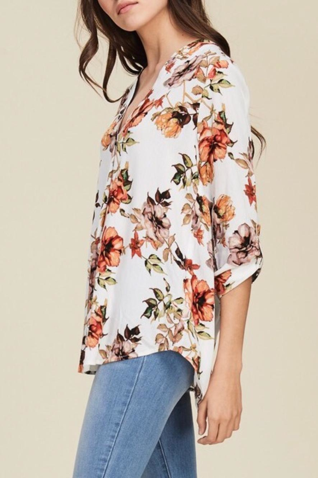 LuLu's Boutique Floral Blouse - Front Full Image