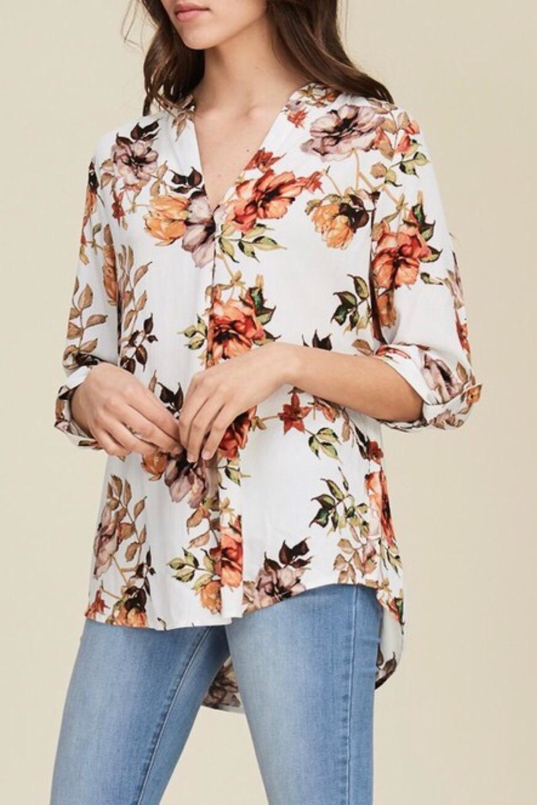 LuLu's Boutique Floral Blouse - Front Cropped Image