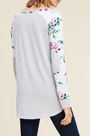 LuLu's Boutique Floral Sleeve Top - Front full body