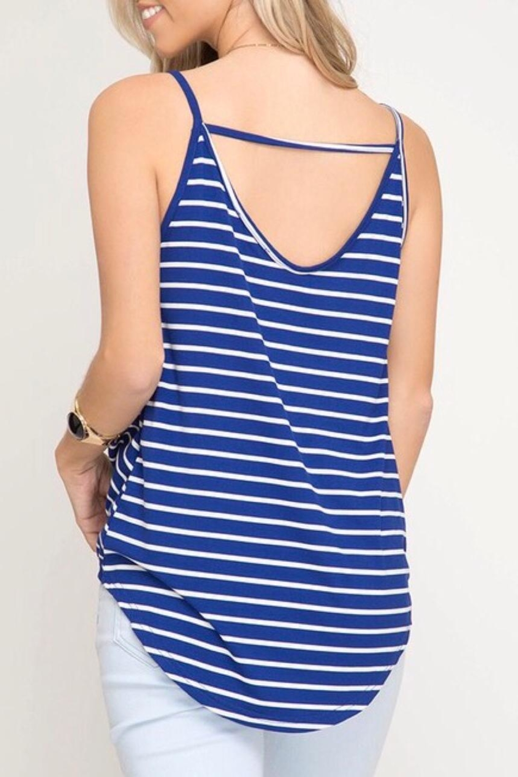 LuLu's Boutique Front Twist Tank - Side Cropped Image