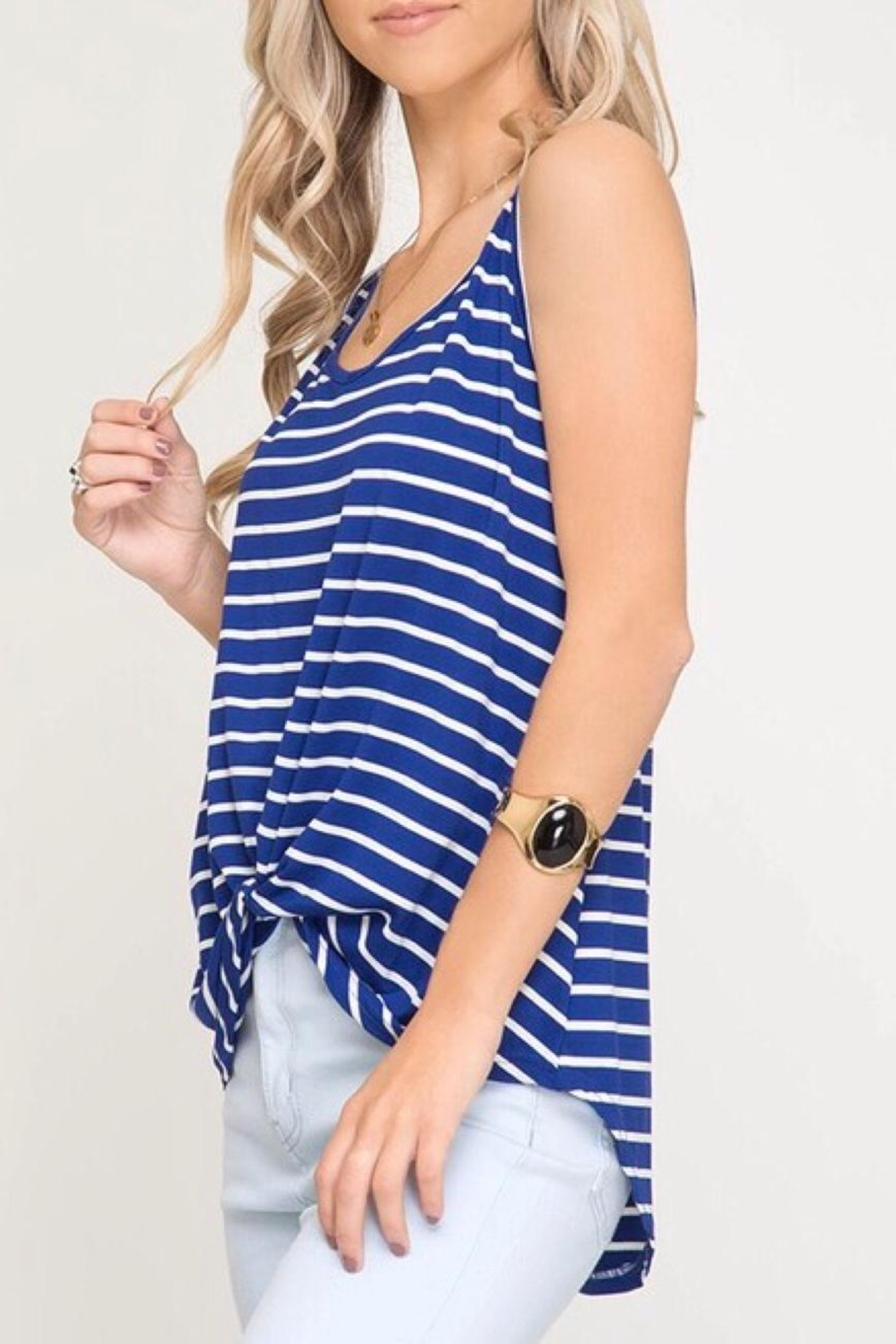 LuLu's Boutique Front Twist Tank - Front Full Image