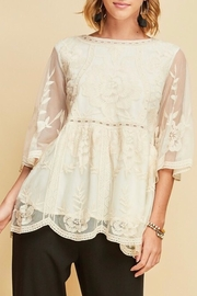LuLu's Boutique Floral Lace Tunic - Product Mini Image