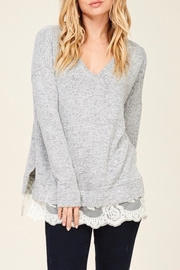 LuLu's Boutique Lace Trim Top - Side cropped