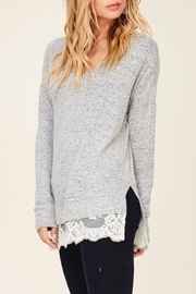 LuLu's Boutique Lace Trim Top - Front full body
