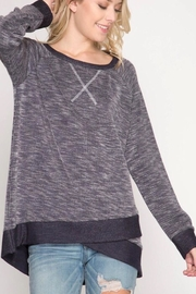 She + Sky Overlapping Knit Top - Product Mini Image