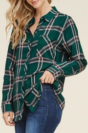 LuLu's Boutique Plaid Shirt - Product Mini Image