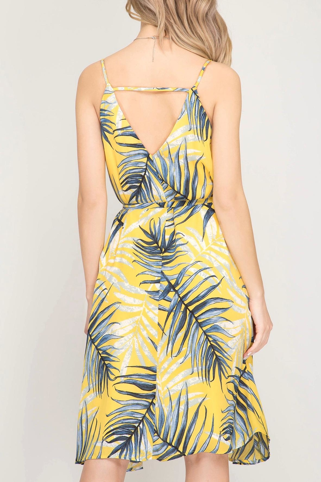 LuLu's Boutique Printed Dress - Back Cropped Image