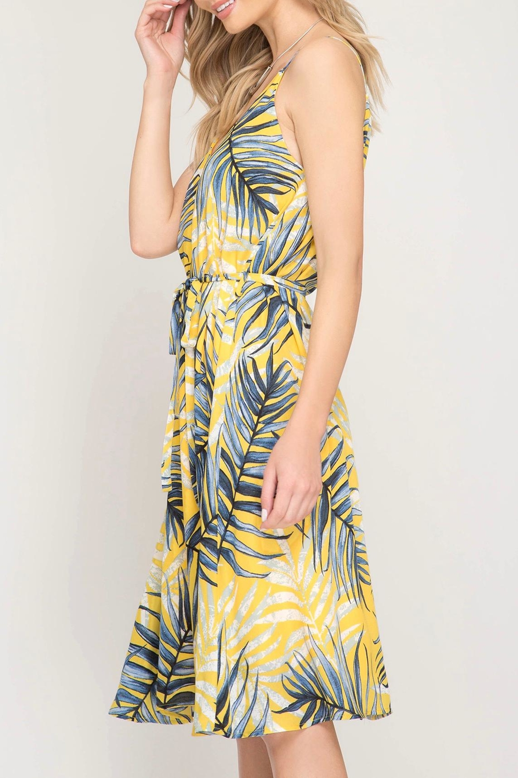 LuLu's Boutique Printed Dress - Side Cropped Image