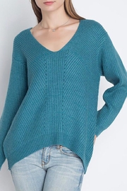 LuLu's Boutique Solid V-Neck Sweater - Product Mini Image