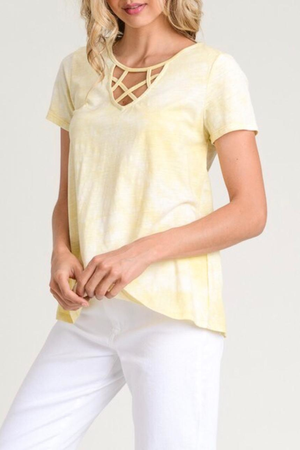 LuLu's Boutique Strappy Neck Tee - Main Image