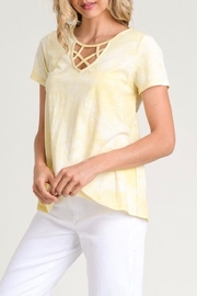 LuLu's Boutique Strappy Neck Tee - Front cropped