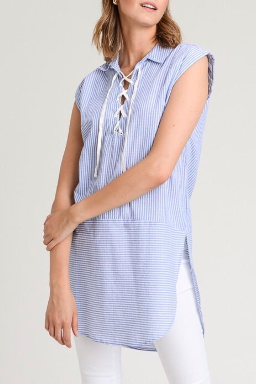 LuLu's Boutique Stripe Tunic Top - Side Cropped Image