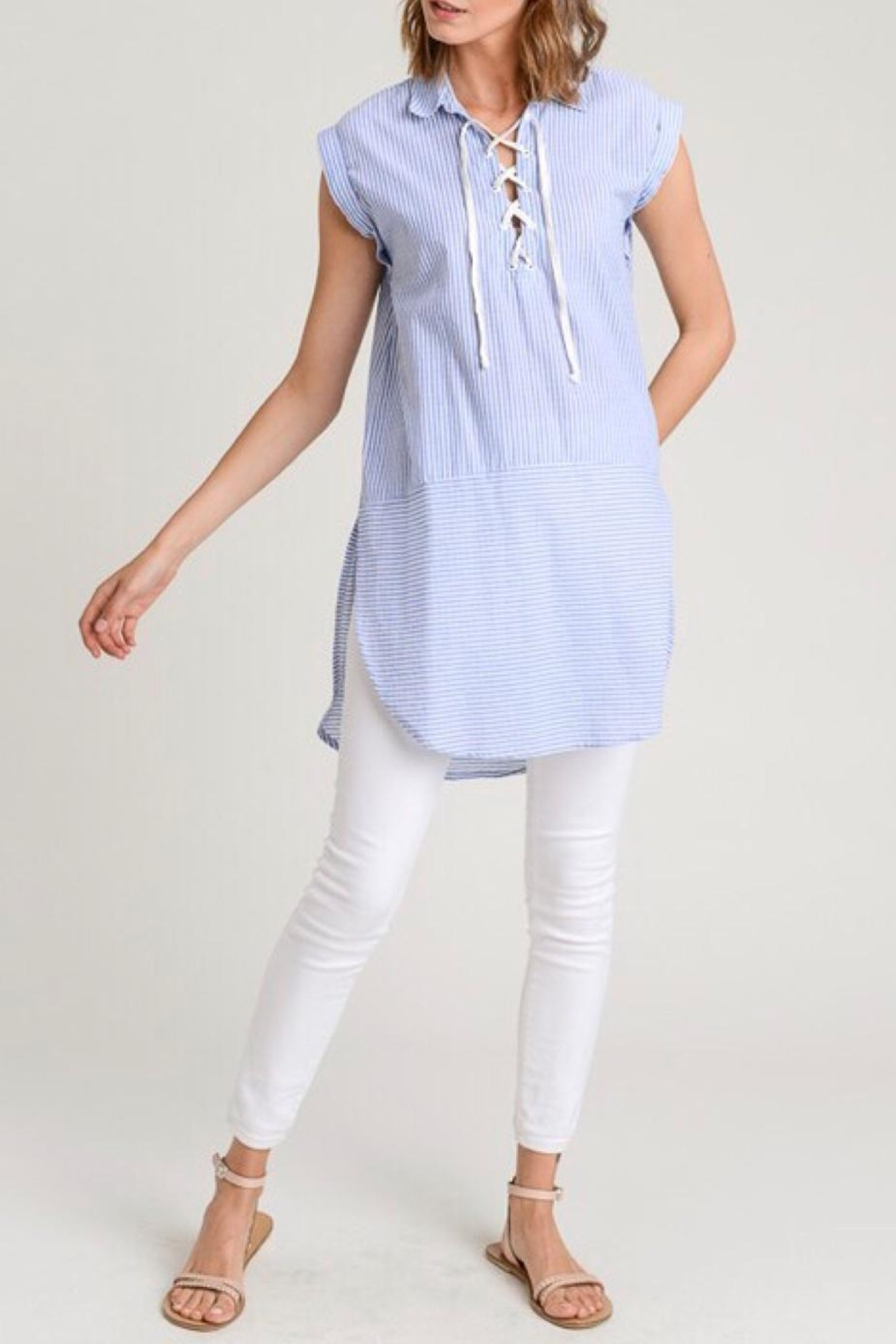LuLu's Boutique Stripe Tunic Top - Main Image