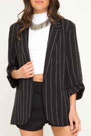 LuLu's Boutique Striped Blazer - Product Mini Image