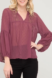 LuLu's Boutique Textured Blouse - Product Mini Image