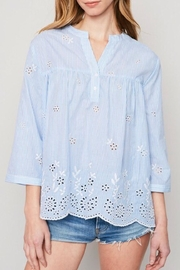 LuLu's Boutique Woven Embroidered Blouse - Product Mini Image