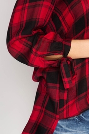She + Sky Woven Plaid Blouse - Side cropped